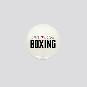 Live Love Boxing Mini Button