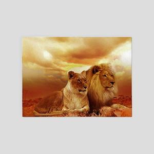 Lion 5'x7'Area Rug