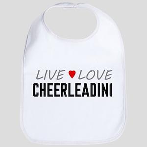 Live Love Cheerleading Bib
