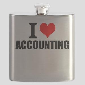 I Love Accounting Flask