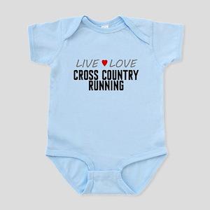 Live Love Cross Country Running Infant Bodysuit