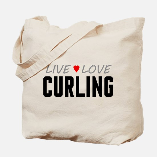 Live Love Curling Tote Bag