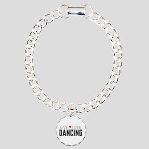 Live Love Dancing Charm Bracelet, One Charm