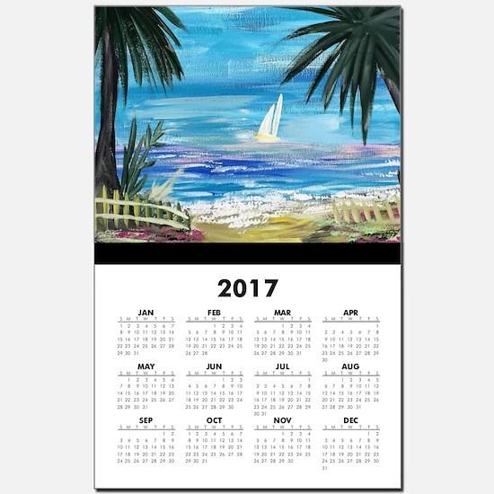 Unique Beach scenes Calendar Print
