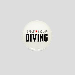 Live Love Diving Mini Button