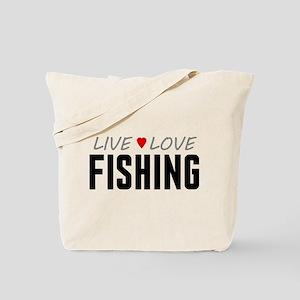 Live Love Fishing Tote Bag