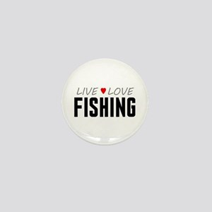 Live Love Fishing Mini Button