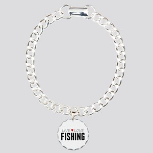 Live Love Fishing Charm Bracelet, One Charm