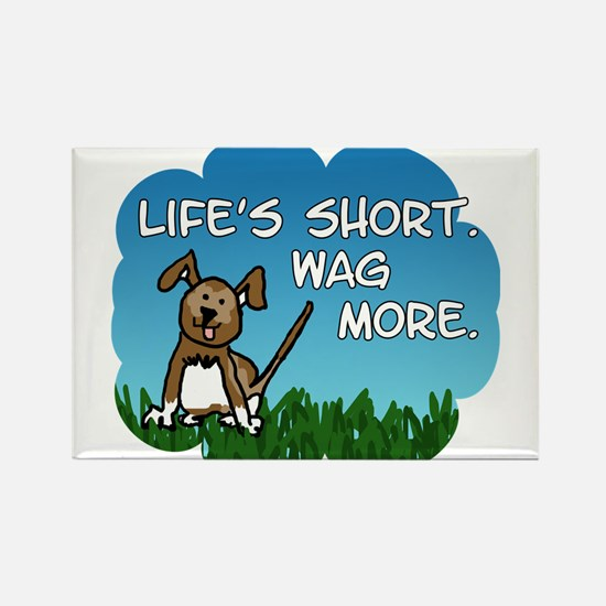Funny Wag more Rectangle Magnet