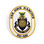 USS JOHN HANCOCK Button