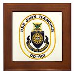 USS JOHN HANCOCK Framed Tile