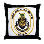 USS JOHN HANCOCK Throw Pillow
