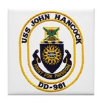 USS JOHN HANCOCK Tile Coaster