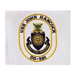 USS JOHN HANCOCK Throw Blanket