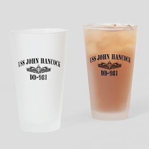 USS JOHN HANCOCK Drinking Glass