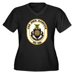 USS JOHN HAN Women's Plus Size V-Neck Dark T-Shirt