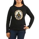 USS JOHN HANCOCK Women's Long Sleeve Dark T-Shirt