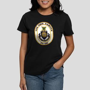 USS JOHN HANCOCK Women's Dark T-Shirt