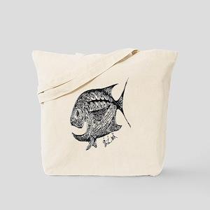 Chrome  Cubby Retro Fish. Fish Retro Tuna Tote Bag