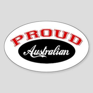 Proud Australian Oval Sticker