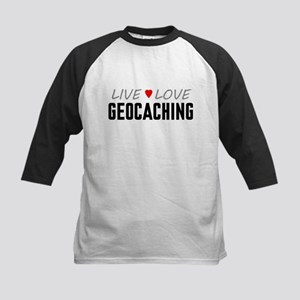 Live Love Geocaching Kids Baseball Jersey