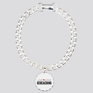 Live Love Geocaching Charm Bracelet, One Charm