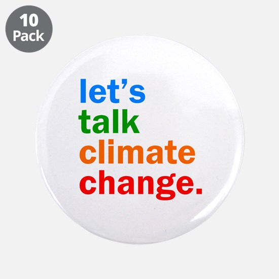 """Climate Change 3.5"""" Button (10 pack)"""