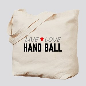 Live Love Hand Ball Tote Bag