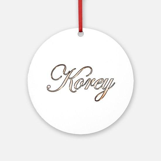 Gold Korey Round Ornament