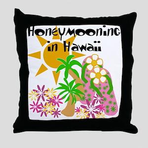 Honeymoon Hawaii Throw Pillow