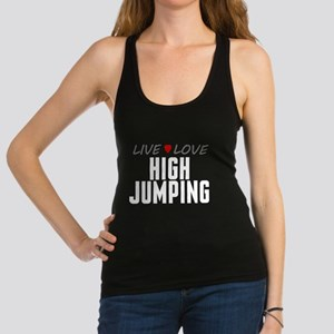 Live Love High Jumping Dark Racerback Tank Top