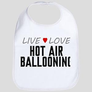 Live Love Hot Air Ballooning Bib