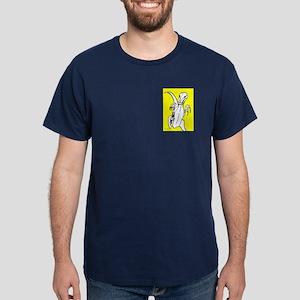 Deadly Deinonychus! Yellow Dark T-Shirt