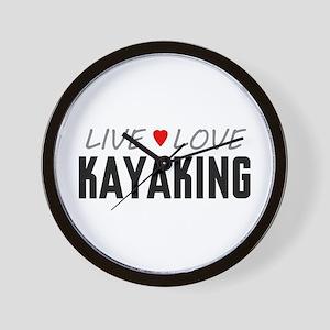 Live Love Kayaking Wall Clock