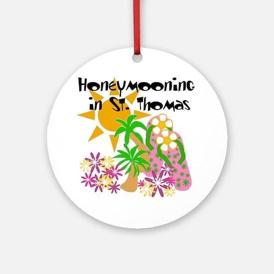 Honeymoon St. Thomas Ornament (Round)
