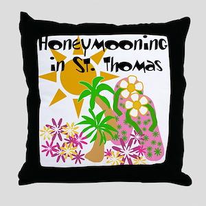 Honeymoon St. Thomas Throw Pillow