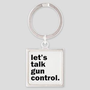 Gun Control Square Keychain