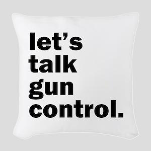 Gun Control Woven Throw Pillow