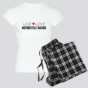 Live Love Motorcycle Racing Women's Light Pajamas
