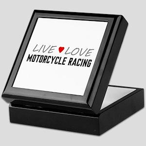 Live Love Motorcycle Racing Keepsake Box