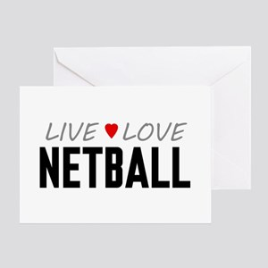 Live Love Netball Greeting Card