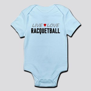 Live Love Racquetball Infant Bodysuit