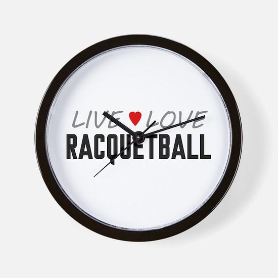 Live Love Racquetball Wall Clock