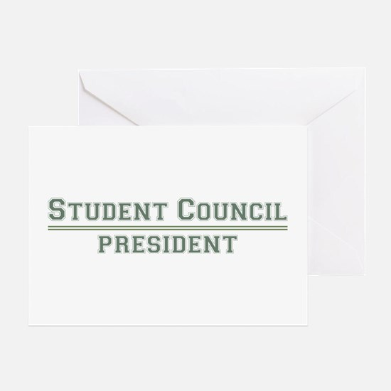 Student Council President Greeting Card