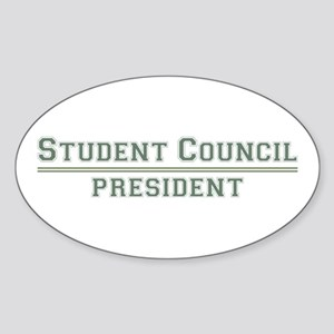 Student Council President Oval Sticker
