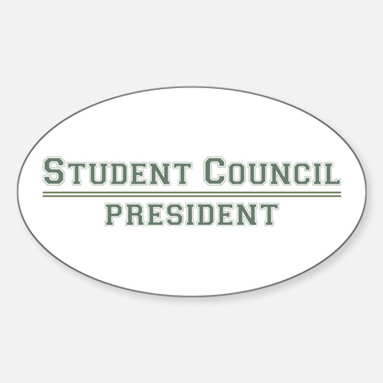 Student Council President Oval Decal
