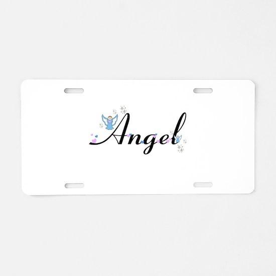Personalizable Cute ANGEL Aluminum License Plate
