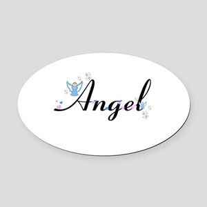 Personalizable Cute ANGEL Oval Car Magnet