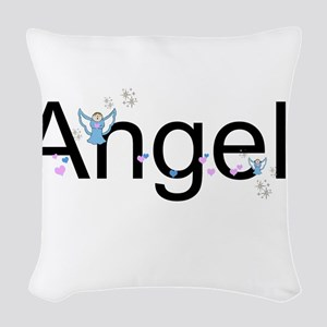 Personalizable Cute ANGEL Woven Throw Pillow