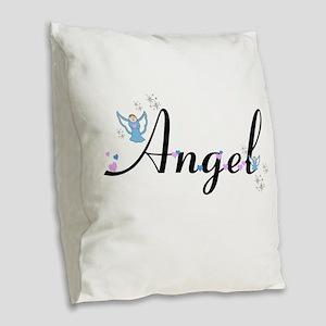 Personalizable Cute ANGEL Burlap Throw Pillow